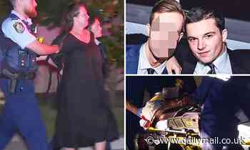 Mother screams I love you as she's arrested with stabbing son at their Bellevue Hill home in Sydney