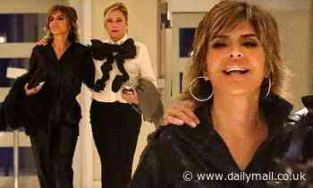 Lisa Rinna laughs with RHOBH co-stars while filming new season in Santa Monica