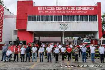 Histórica donación reciben bomberos en Cancún - Cancún Mio