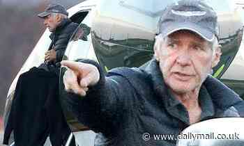 Harrison Ford lands his private plane in Boston to pick up his son ahead of Thanksgiving