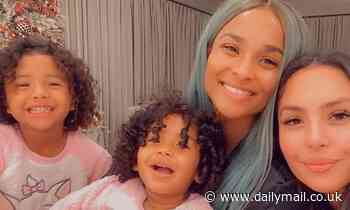 Ciara and Vanessa Bryant post a snuggly selfie from their 'slumber party' with Capri and Bianka
