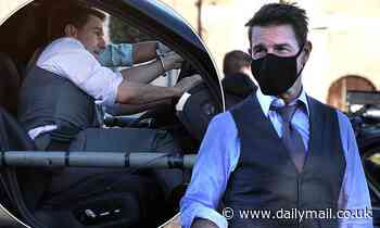 Tom Cruise cuts a dapper figure as films action scenes for Mission Impossible 7 in Rome