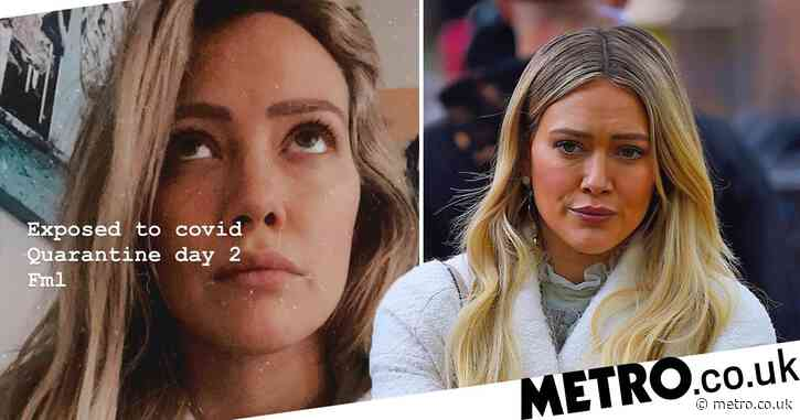 Pregnant Hilary Duff is in quarantine after being 'exposed to Covid'