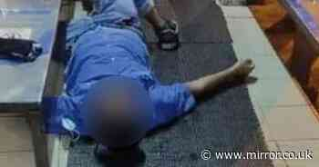 Shock footage shows overworked staff collapse with seizures making PPE for NHS