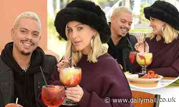 Ashlee Simpson and Evan Ross enjoy their first date night out since welcoming son Ziggy in October
