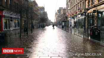 Covid in Scotland: Streets empty on day one of level 4 lockdown
