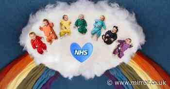 Babies of NHS nurses form 'rainbow of hope' in tribute to frontline staff