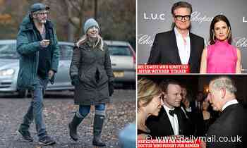 Colin Firth strolls in the park with BBC newsreader Joanna Gosling, 49