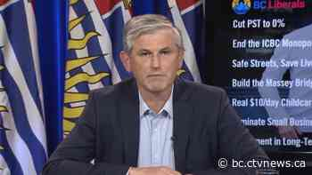 Andrew Wilkinson stepping down as BC Liberal leader, interim replacement will be chosen