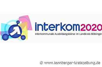 Virtuelle Ausbildungsbörse: Die interkom läuft am Donnerstag im Internet - Leonberger Kreiszeitung
