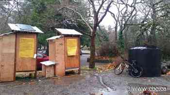 City of Victoria dismantles showers for homeless campers at Beacon Hill Park