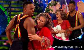 Strictly's Caroline Quentin causes a stir as she LICKS partner Johannes Radebe's arm during cha cha