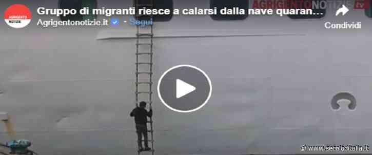 Porto Empedocle, migranti fuggono dalla scaletta della nave-quarantena e spariscono (video) - Secolo d'Italia