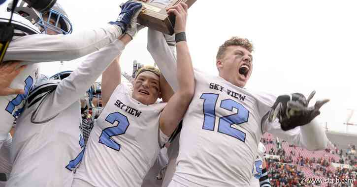 Sky View fends off Pine View, 39-33, to claim second straight 4A football championship