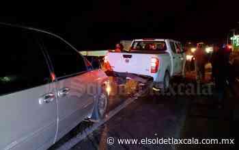 Choque múltiple provoca caos en la vía Tlaxcala-Apizaco - El Sol de Tlaxcala