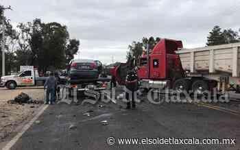 Ocho lesionados, saldo de impactante accidente en la carretera Apizaco-Tlaxco - El Sol de Tlaxcala