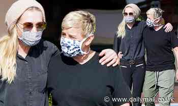 Ellen DeGeneres and wife Portia de Rossi pack on the PDA while out shopping