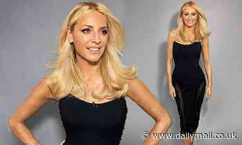 Strictly's Tess Daly exudes glamour as she flaunts her svelte figure in a fitted black dress