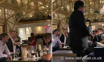 Michigan GOP leaders are seen drinking at Trump's DC hotel hours after meeting with  president
