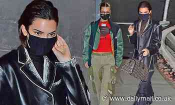 Kendall Jenner bundles up in black as she leaves Givenchy photo shoot with pal Bella Hadid in NYC