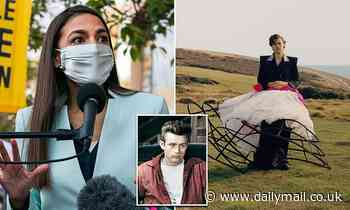 AOC praises Harry Styles saying his Vogue cover photo of him in a dress 'gives me James Dean vibes'