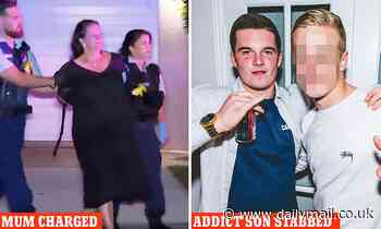 Mother, 55, 'stabbed her drug-addicted son, 22, after he told her he murdered someone'
