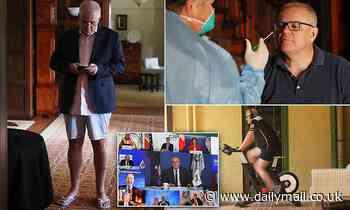 Australian Prime Minister Scott Morrison Covid quarantine in board shorts after Japan trips