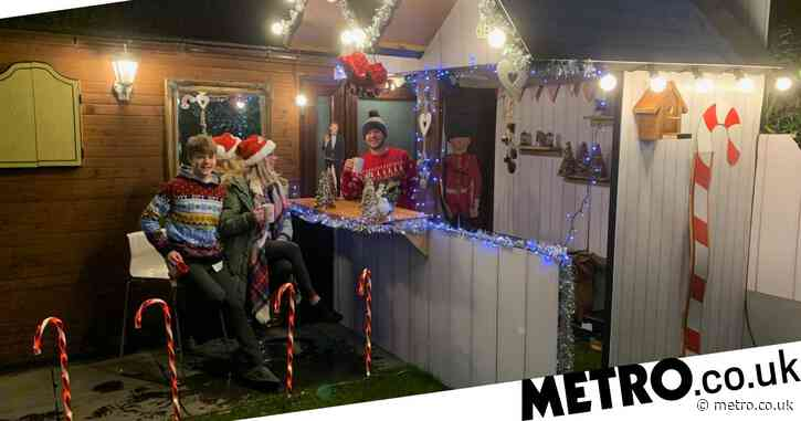 DIY-savvy dad makes Christmas market in the garden for his family in just three hours