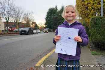 Six-year-old Ladner girl petitions city for crosswalk, after a close call involving her brother - Vancouver Is Awesome