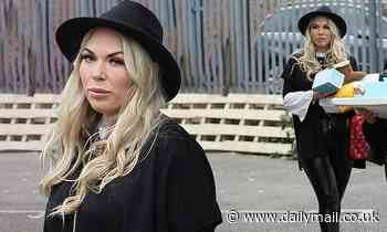 Frankie Essex looks stylish as she volunteers for baby bank charity