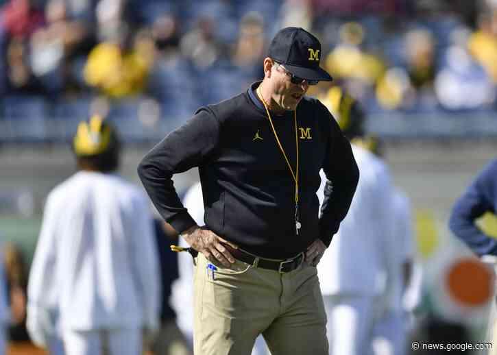 NCAA football: Jim Harbaugh's Michigan struggles continue - Yahoo Sports