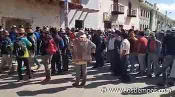 Enfrentamientos con dinamitazos en Mizque por la canasta escolar - Los Tiempos
