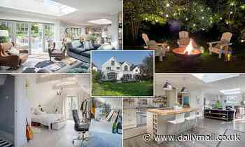 Couple who built five-bed New England-style home from scratch are selling it for £1.25million