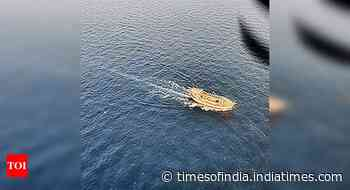 ICG intercepts suspicious Indian dhow off Okha - Times of India