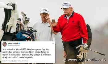 Trump denies that he blew off virtual G20 to play golf on Saturday