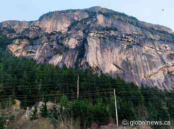 Base jumper rescued after getting sail stuck on Stawamus Chief
