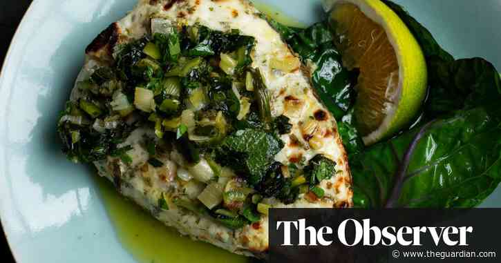 Nigel Slater's recipes for halibut, and baked apples