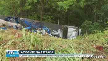 Colisão entre carro e caminhão mata mulher em rodovia próximo a Guariba, SP - G1