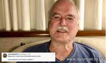 John Cleese is accused of transphobia after joking about identifying as a 'Cambodian police woman'