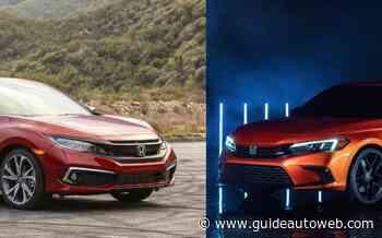 La Honda Civic 2022 comparée au modèle actuel