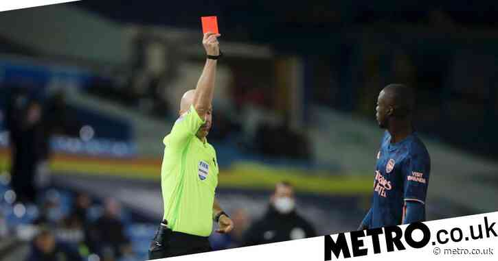 'He let the team down' – Mikel Arteta slams Nicolas Pepe after red card in Arsenal's draw with Leeds