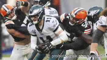 Browns extend lead to 12-7 after sacking Carson Wentz for safety
