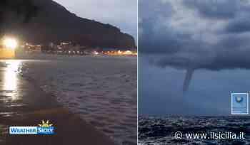 Palermo: cancellata la spiaggia di Mondello, trombe marine e sottopassi allagati   VIDEO - ilSicilia.it