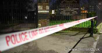 Mourners 'shut in cemetery by police' after man stabbed to death nearby