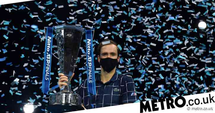 Daniil Medvedev reacts after making history at the last O2 ATP Finals