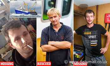 Pictured: Two fishermen feared dead and a third rescued as 'scallop wars' boat sinks in Channel