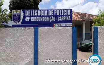 Adolescente é detido pilotando moto em Carpina - Voz de Pernambuco