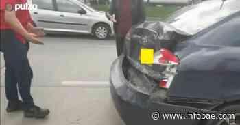 En video quedó grabado fuerte choque vehicular provocado por el Esmad al dispersar manifestantes - infobae