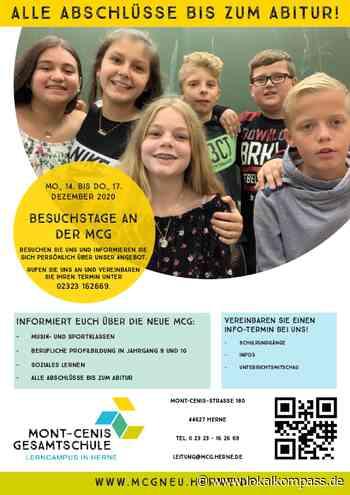 Übergang weiterführende Schule: Mont-Cenis-Gesamtschule lädt zu Besuchstagen ein - Lokalkompass.de