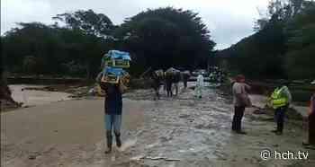 ¡Puente provisional de hamaca! instalan en Santa Rita, Copán tras caída del puente Malvinas - hch.tv